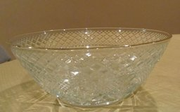 Gold Rimmed Crystal Bowl - NEW in Yorkville, Illinois