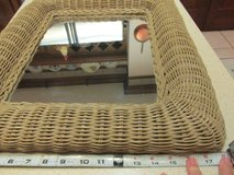 Antique Shabby Chic Wicker-Framed Mirror in Houston, Texas