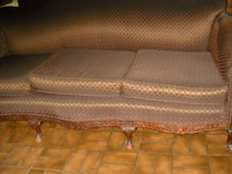 Antique wood and material Sofa in Conroe, Texas